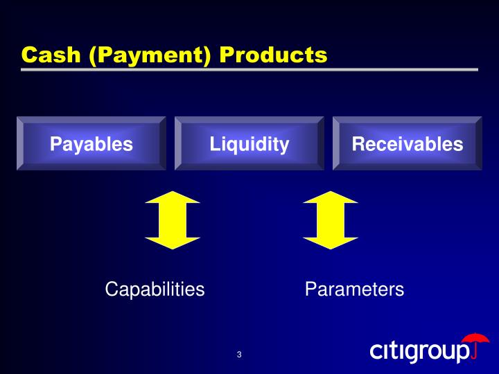 Cash (Payment) Products