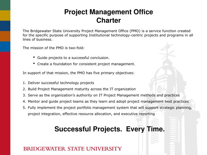 Ppt Project Management Office Charter Powerpoint