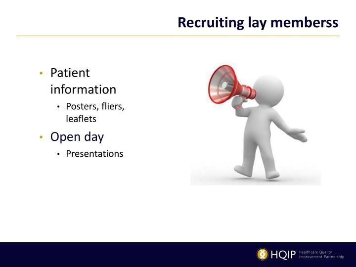 Recruiting lay members