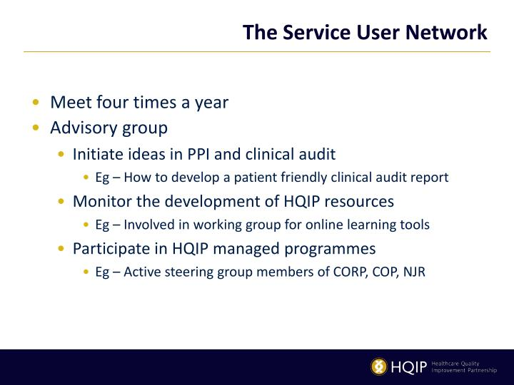 The service user network