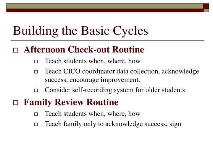 Building the Basic Cycles
