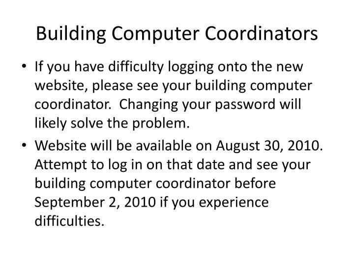 Building Computer Coordinators