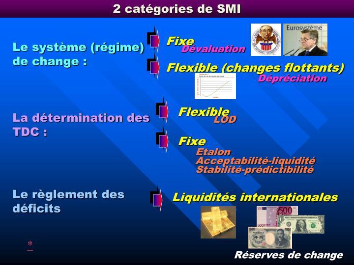 2 catégories de SMI