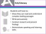 ela literacy