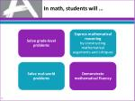 in math students w ill
