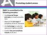 promoting s tudent access