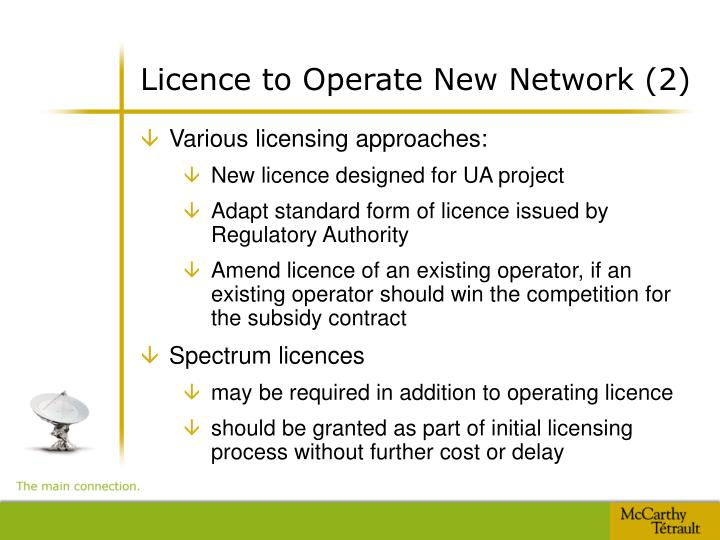 Licence to Operate New Network (2)