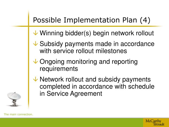Possible Implementation Plan (4)