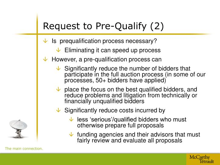 Request to Pre-Qualify (2)