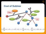cost of subtree