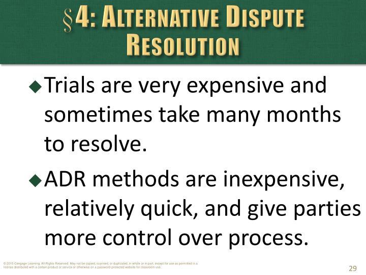 §4: Alternative Dispute Resolution