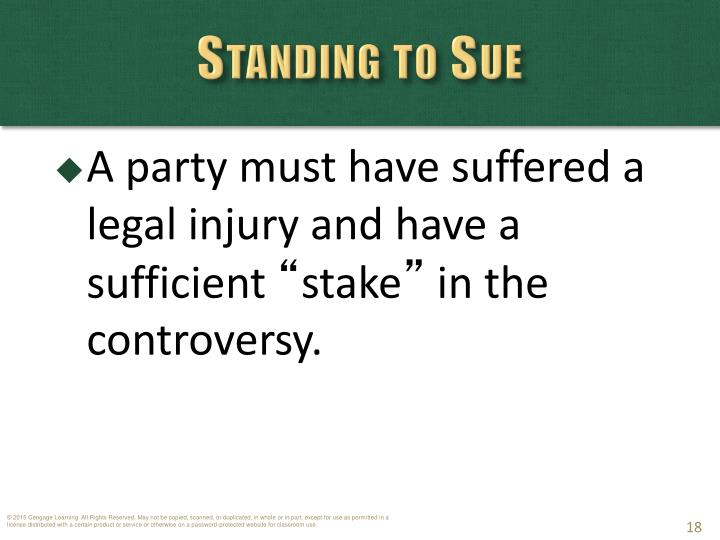 Standing to Sue