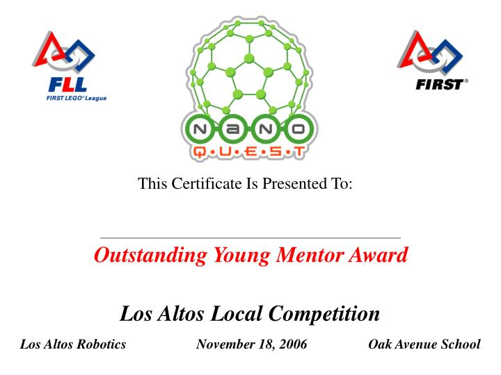 Outstanding Young Mentor Award
