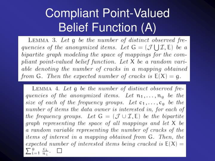Compliant Point-Valued