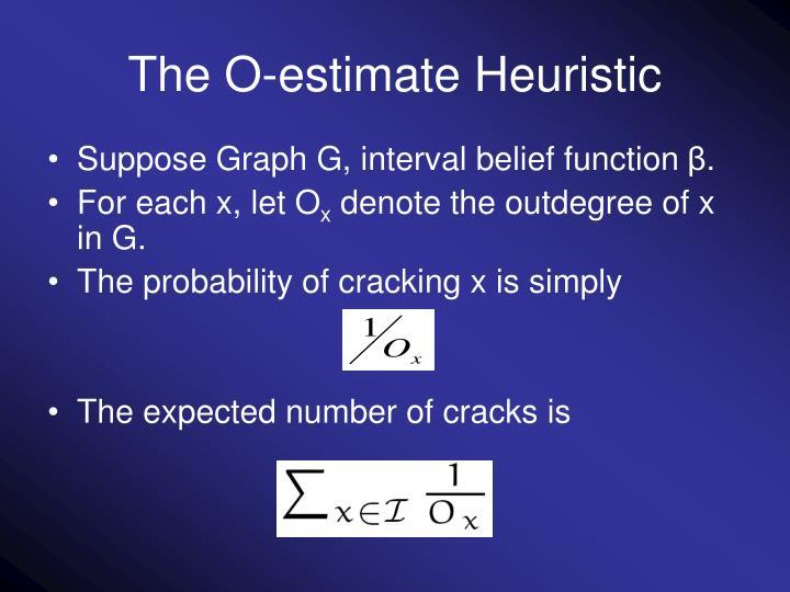 The O-estimate Heuristic