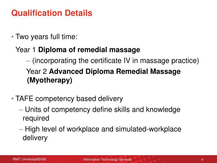 Qualification Details