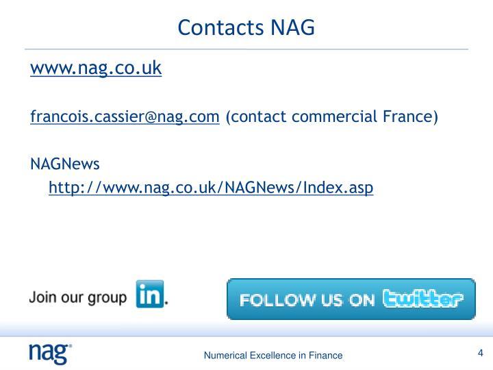 Contacts NAG