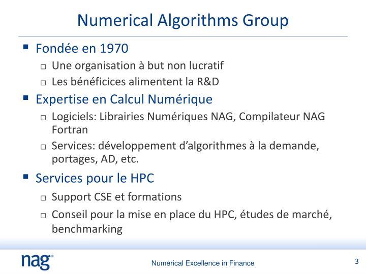 Numerical algorithms group