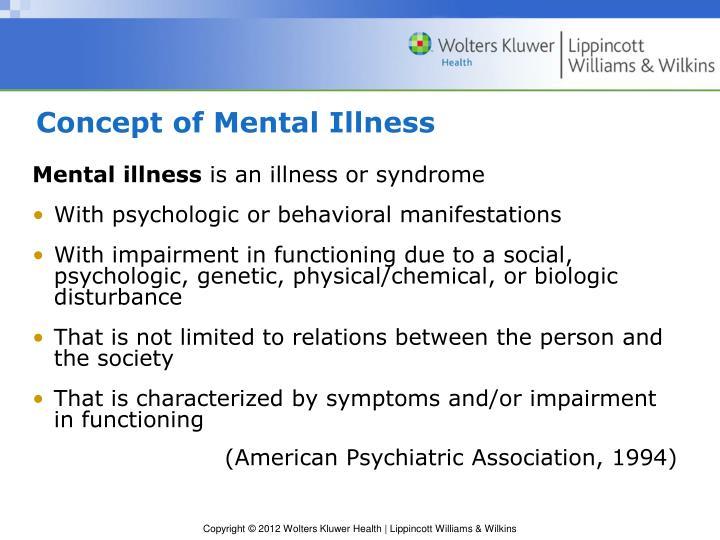 Concept of Mental Illness