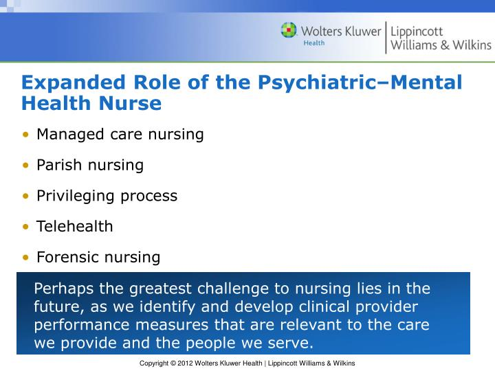 Expanded Role of the Psychiatric–Mental Health Nurse