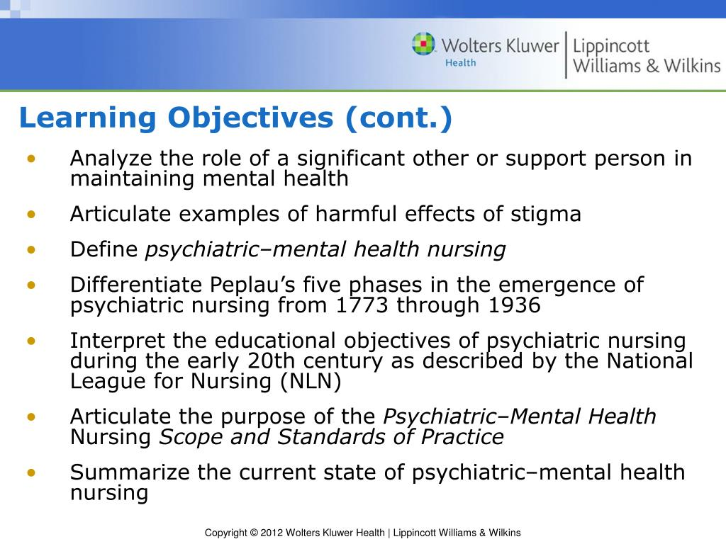 PPT - Chapter 2 History and Trends in Psychiatric-Mental ...