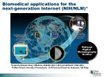 biomedical applications for the next generation internet nih nlm