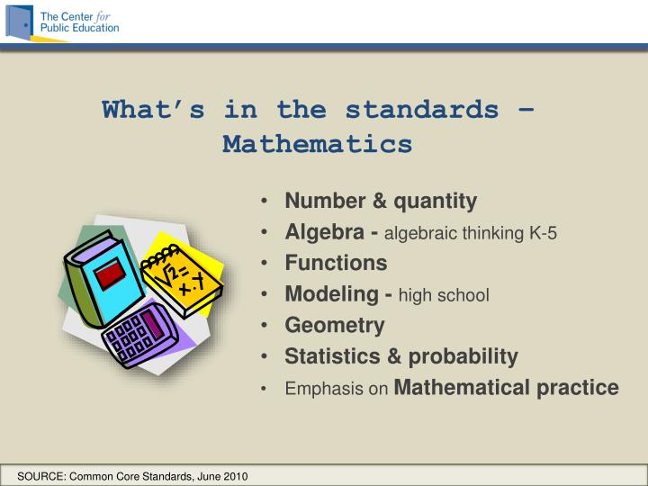 What's in the standards –