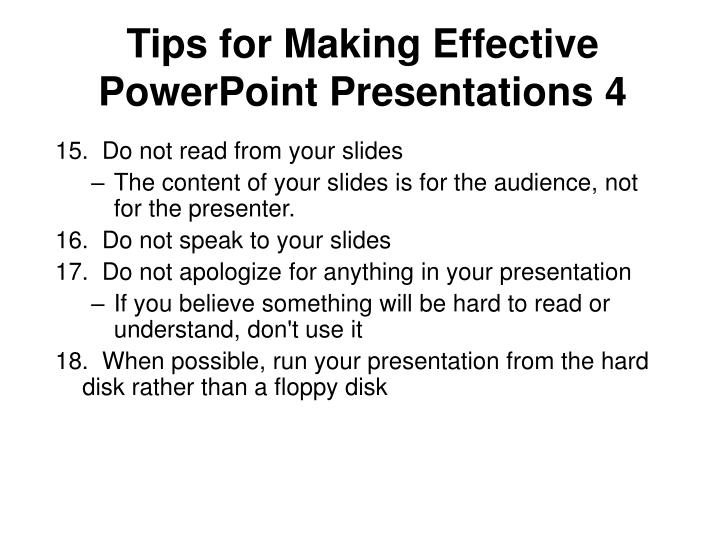 Tips for Making Effective PowerPoint Presentations 4