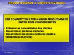 produtividade e competitividade