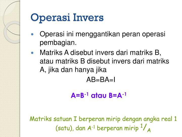 Operasi Invers