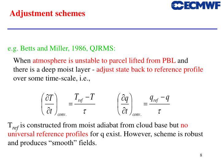 Adjustment schemes