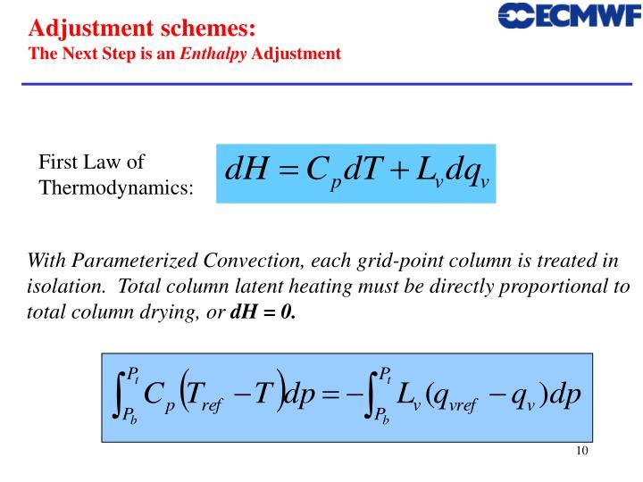 Adjustment schemes: