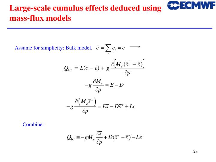 Assume for simplicity: Bulk model