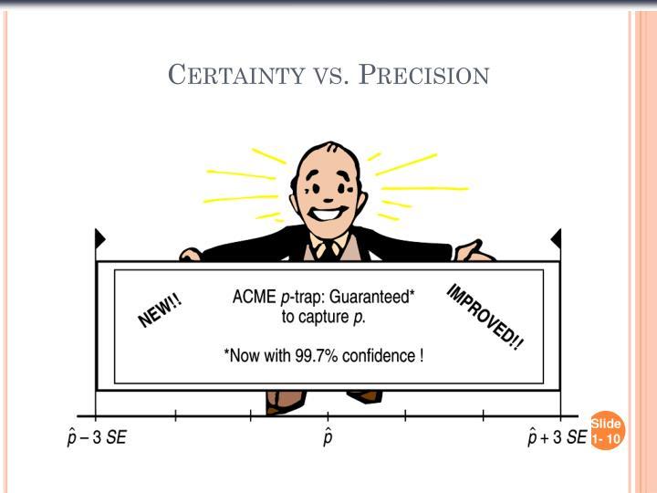 Certainty vs. Precision