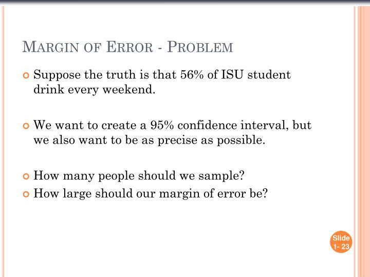 Margin of Error - Problem
