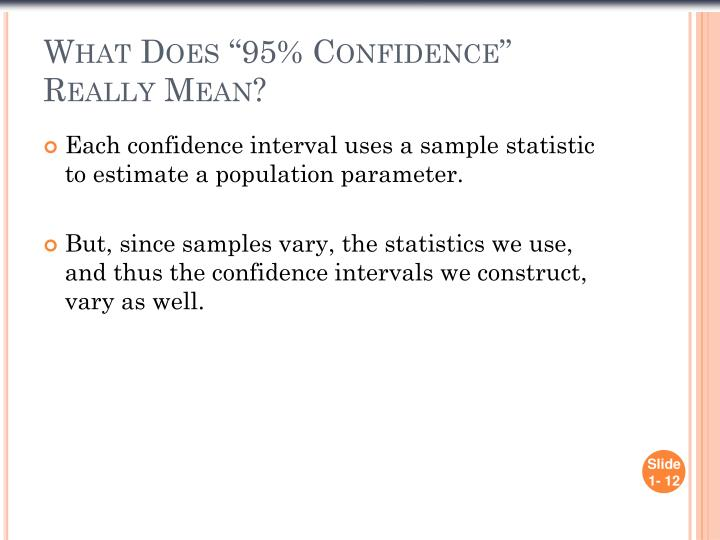 """What Does """"95% Confidence"""" Really Mean?"""