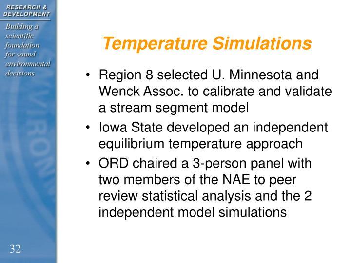 Temperature Simulations