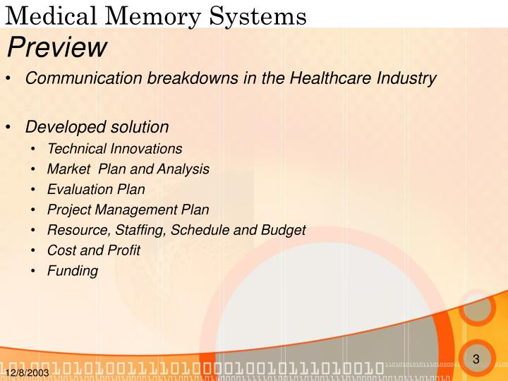 Medical memory systems2