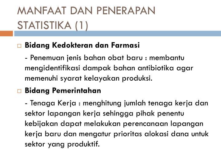 MANFAAT DAN PENERAPAN STATISTIKA (1)
