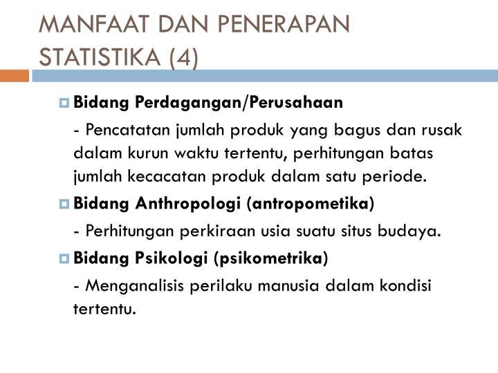 MANFAAT DAN PENERAPAN STATISTIKA (4)