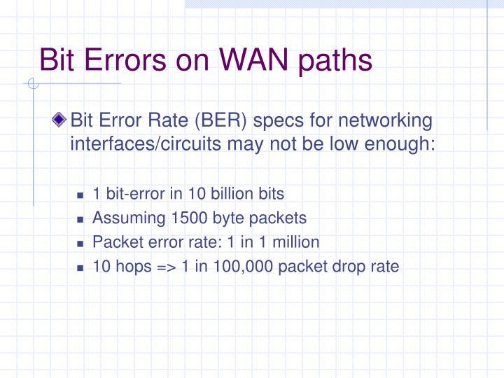 Bit Errors on WAN paths