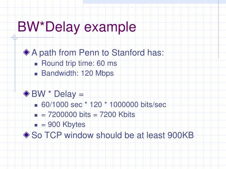 BW*Delay example