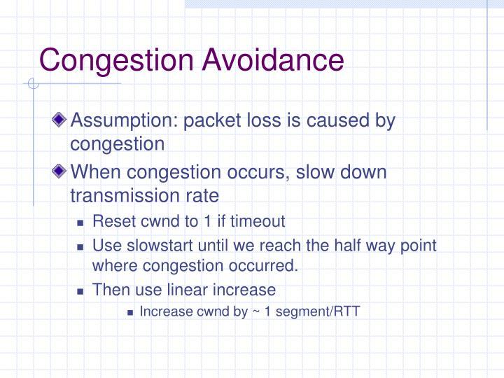 Congestion Avoidance