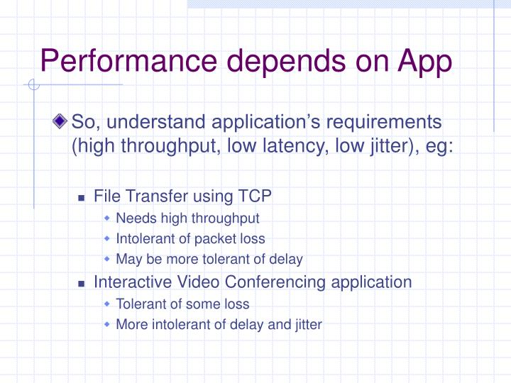 Performance depends on App