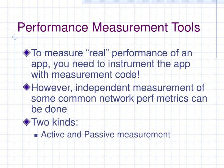 Performance Measurement Tools