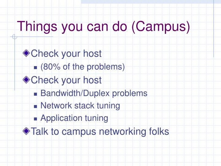 Things you can do (Campus)