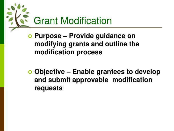 Grant modification1