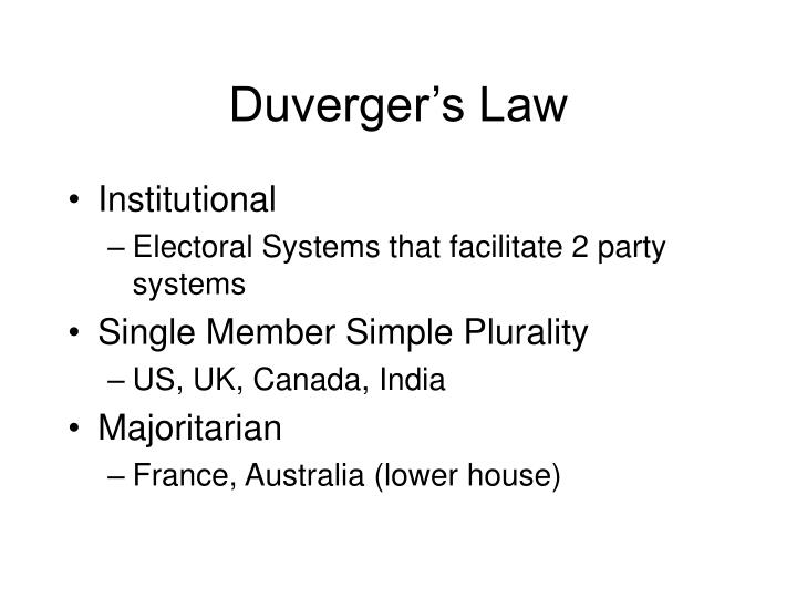 Duverger's Law