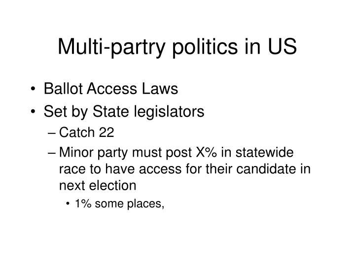 Multi-partry politics in US