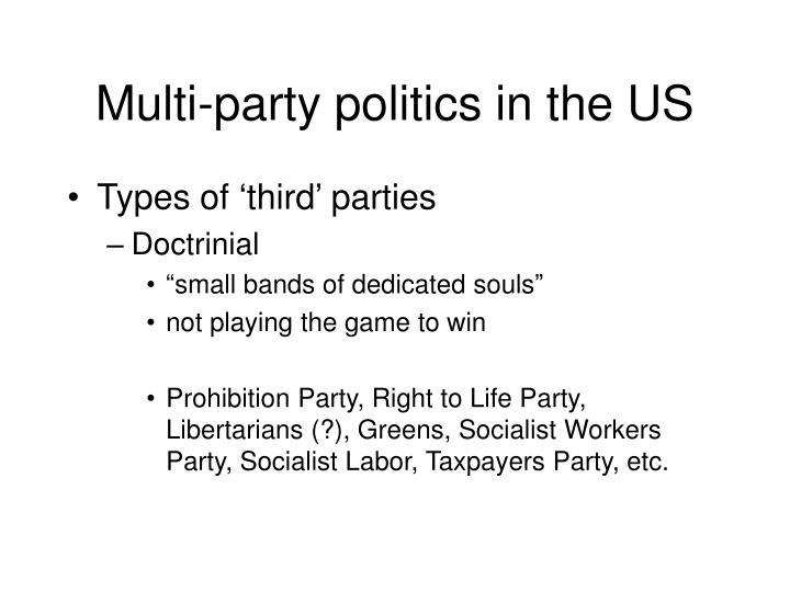 Multi-party politics in the US